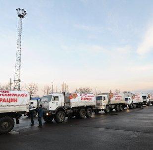 Rusya'dan Donbass'a yeni yardım konvoyu
