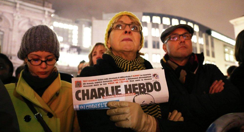 Paris saldırısı, Brüksel'de protesto edildi