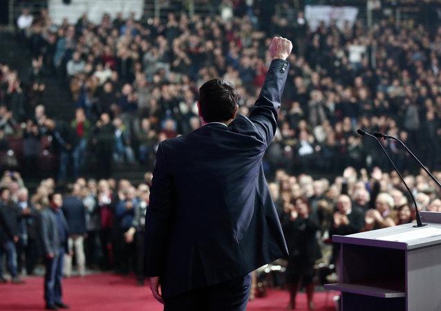 Syriza Partisi lideri  Alexis Tsipras