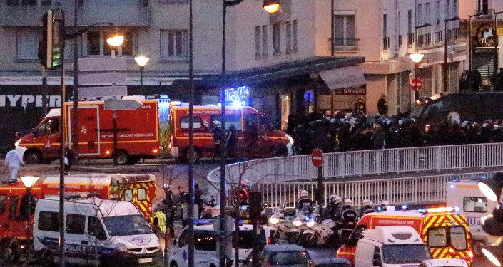 Paris'te Yahudi marketine saldırı