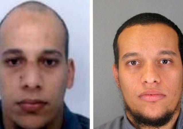 Charlie Hebdo dergisine yapılan operasyonda 12 kişiyi öldürdüğü belirtilen Şerif (solda) ve Said (sağda) Kouachi kardeşler öldürüldü.
