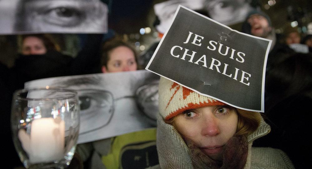Charlie Hebdo protesto