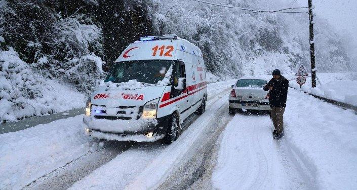 Trabzon'da çığ düştü