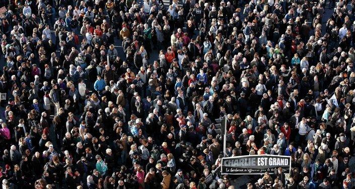 Paris, Charlie Hebdo, yürüyüş