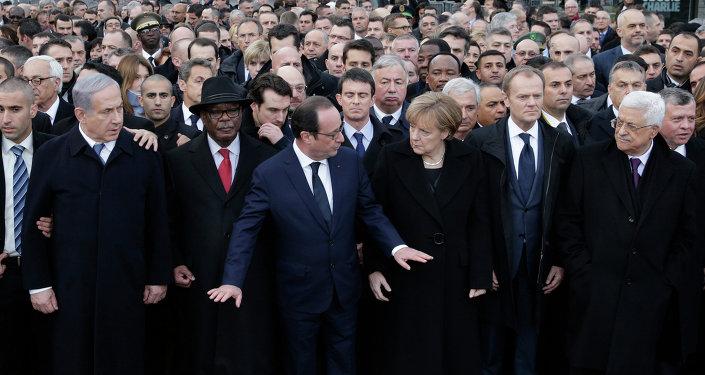 Fransa, yürüyüş, Hollande, Abbas, Netanyahu