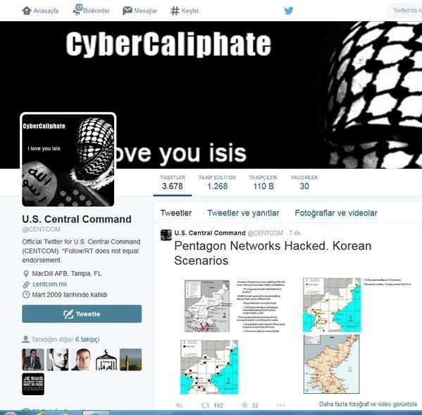 IŞİD, CENTCOM'un Twitter hesabını hack'ledi