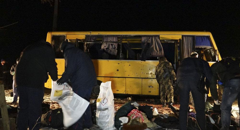 Donetsk'te yolcu otobüsüne saldırı: 12 ölü