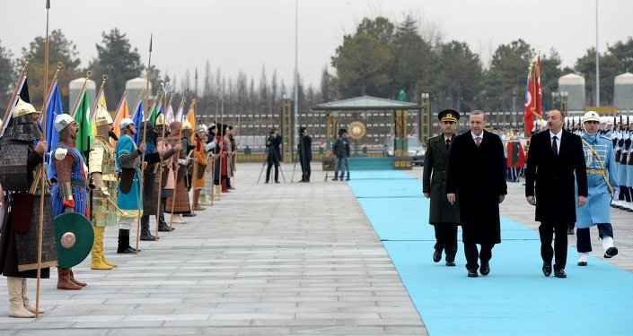 Türkiye Cumhurbaşkanı  Erdoğan ve Azerbaycan Cumhurbaşkanı  Aliyev