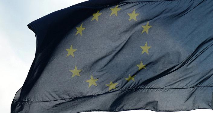 Berlin'de Avrupa Birliği bayrağı