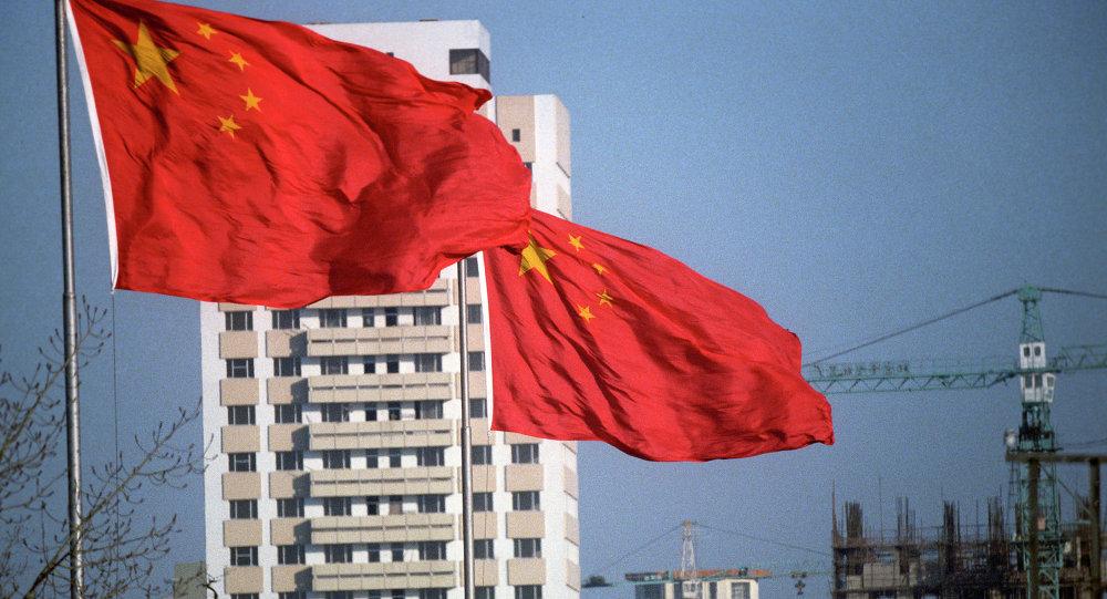 Pekin'de Çin bayrağı