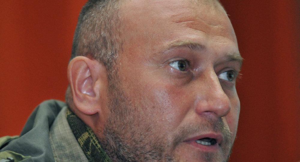 Ukrayna'da radikal örgüt Sağ Sektör'ün lideri Dmitriy Yaroş