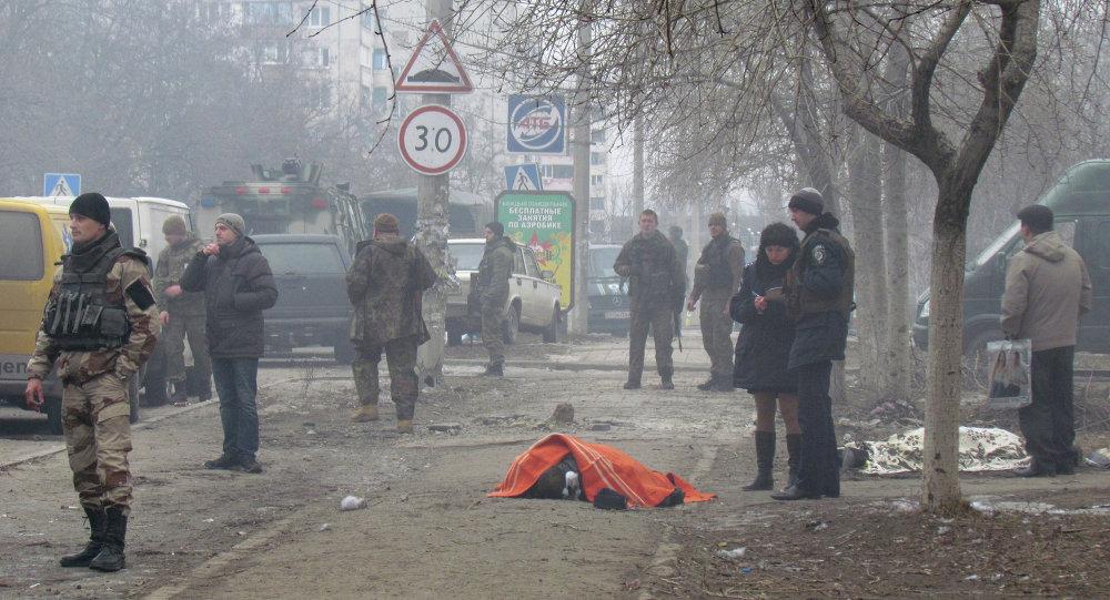 Mariupol'de pazar yerine saldırı