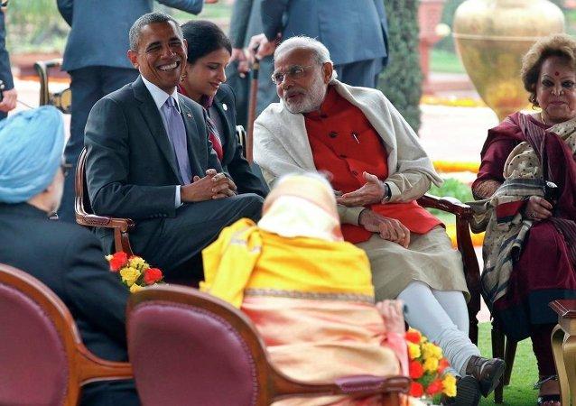 ABD Başkanı Barack Obama  ile Hindistan Başbakanı Narendra Modi