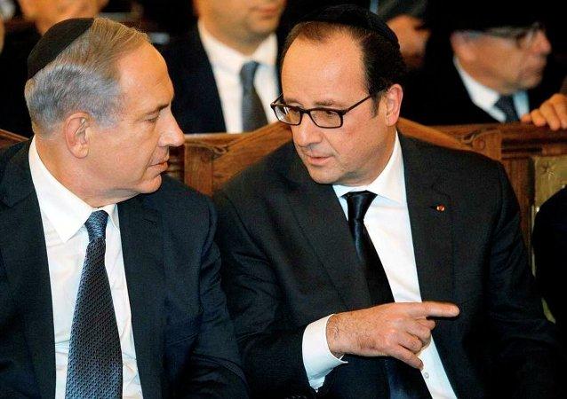 Fransa Cumhurbaşkanı Hollande-İsrail Başbakanı Netanyahu