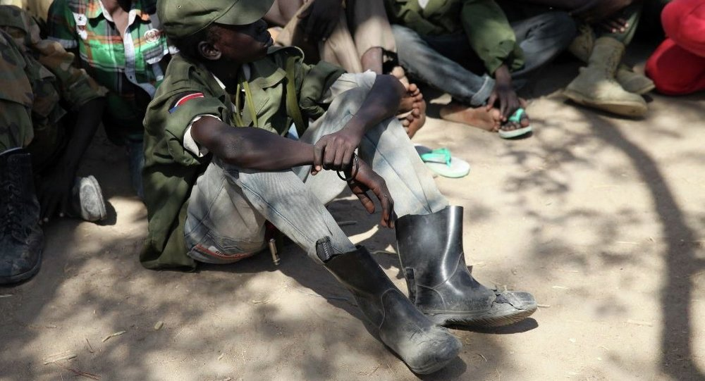 Güney Sudan'daki çocuk askerler