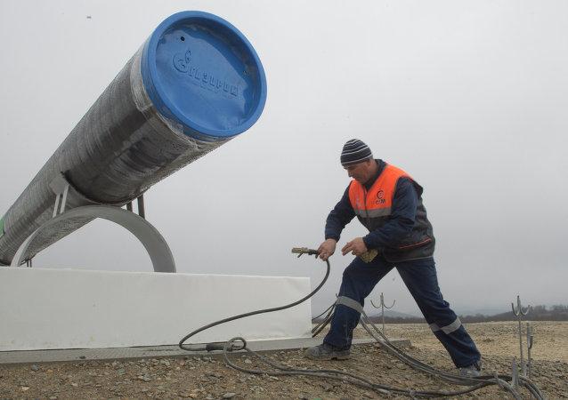 Güney akım doğalgaz boruhattı inşaatı