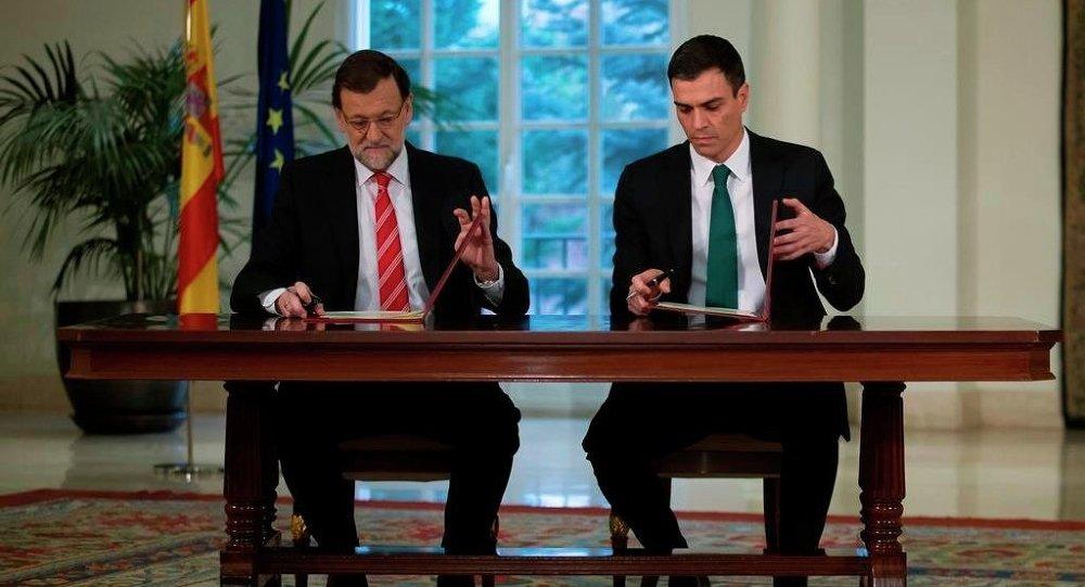 İspanya Başbakanı Mariano Rajoy-PSOE lideri Pedro Sanchez
