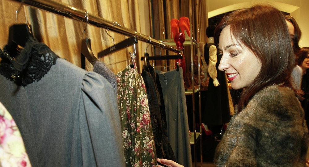 Tasarımcı Ulyana Sergeyenko'nun Podium mağazasındaki satış noktası