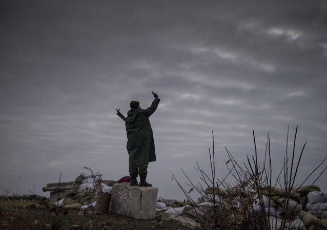 Ukrayna milis - Slavyanoserbsk - Lugansk