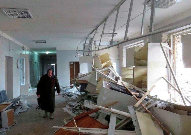 Donetsk'te hastane topçu ateşinin hedefi oldu