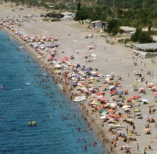 Antalya plaj-turist