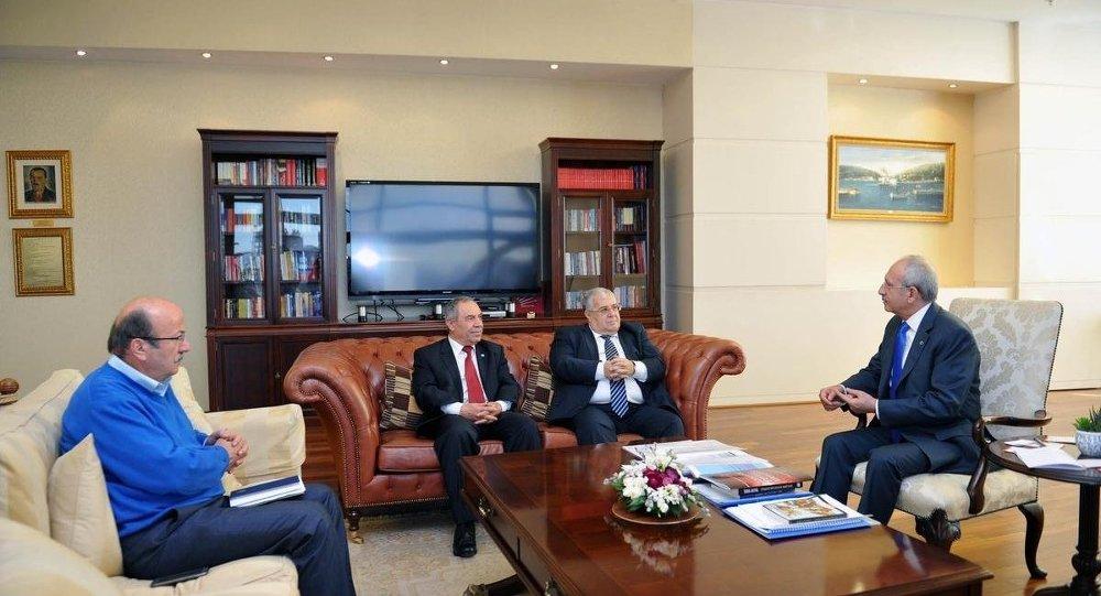 CHP Genel Başkanı Kemal Kılıçdaroğlu, DSP Genel Başkanı Masum Türker