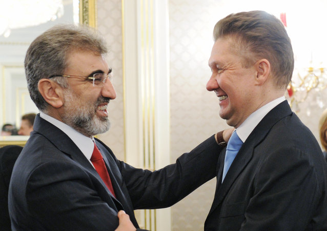 Enerji ve Tabii Kaynaklar Bakanı Taner Yıldız ve Gazprom CEO'su Aleksey Miller