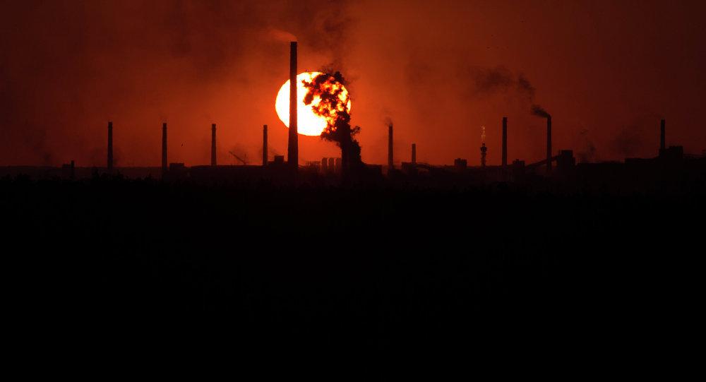 Donetsk fabrika patlama