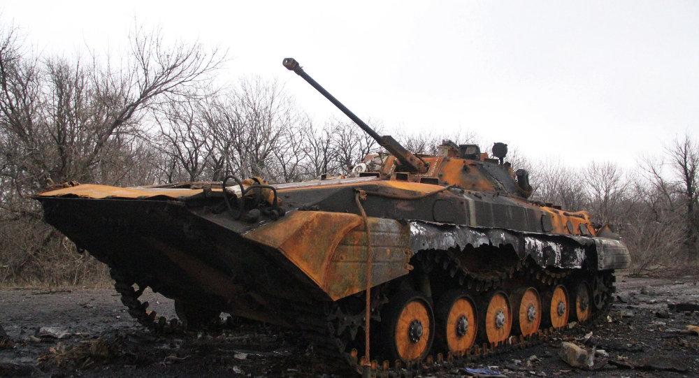 Yakılmış askeri araç