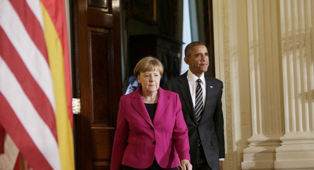 ABD Başkanı Barack Obama ve Almanya Başbakanı Angela Merkel