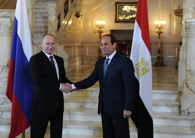 Rusya Devlet Başkanı Vladimir Putin, Mısır Devlet Başkanı Abdülfettah el Sisi