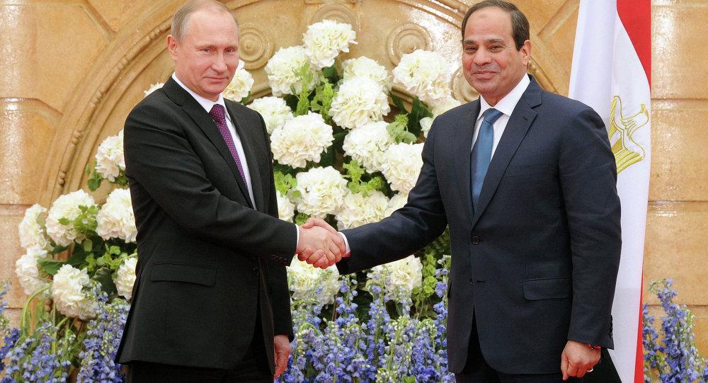 Rusya Devlet Başkanı Vladimir Putin ve Mısır Cumhurbaşkanı Abdulfettah El-Sisi