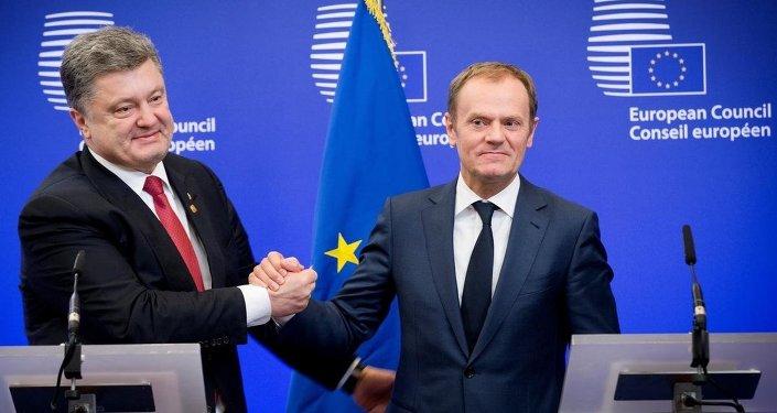 Ukrayna Devlet Başkanı Pyotr Poroşenko - AB Konseyi Başkanı Donald Tusk