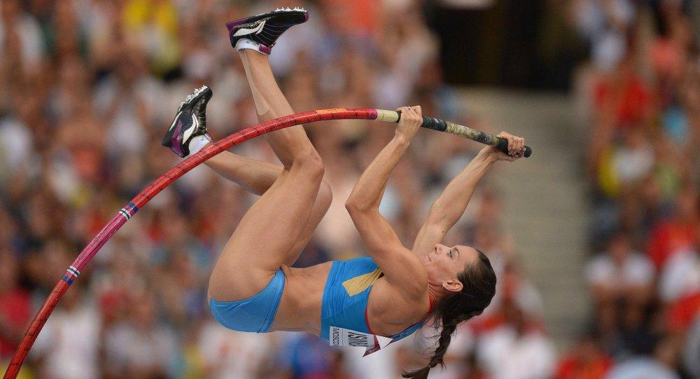 Rus sırıkla atlamacı Yelena Isinbayeva