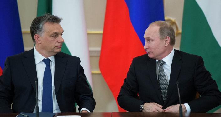 Rus lider Vladimir Putin ve Macaristan Başbakanı  Viktor Orban