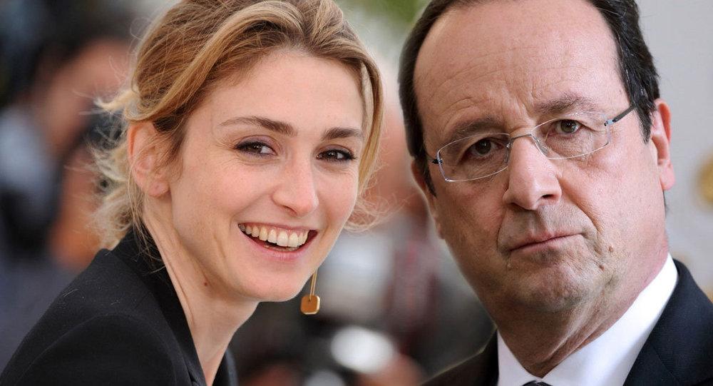 Fransa Cumhurbaşkanı François Hollande ve oyuncu sevgilisi Julie Gayet