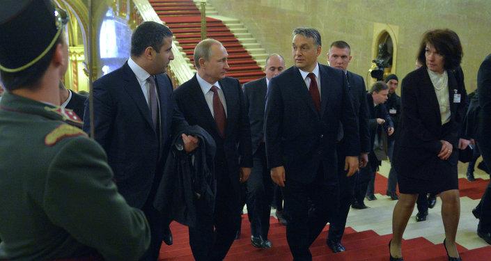 Rusya Devlet Başkanı Vladimir Putin'in Macaristan ziyareti