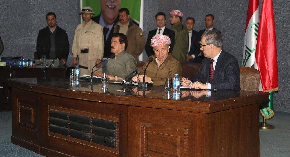 Irak Kürt Bölgesel Yönetimi Başkanı Mesut Barzani, Kerkük Valisi Necmeddin Kerim