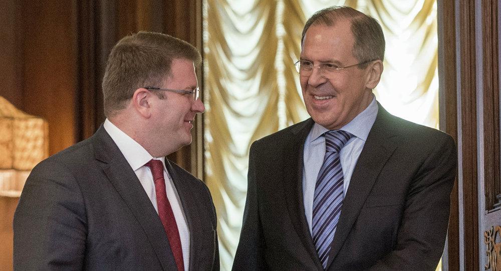Rusya Dışişleri Bakanı Sergey Lavrov, Güney Osetya Dışişleri Bakanı David Sanakoyev