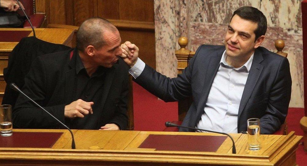 Yunanistan Başbakanı Aleksis Çipras - Maliye Bakanı Yannis Varufakis