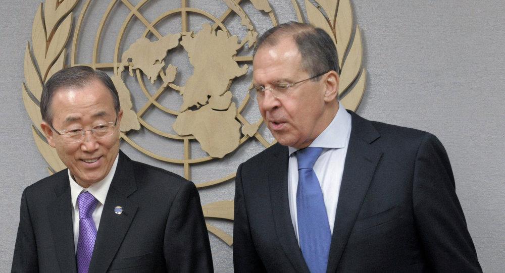 Sergey Lavrov - Ban Ki-mun
