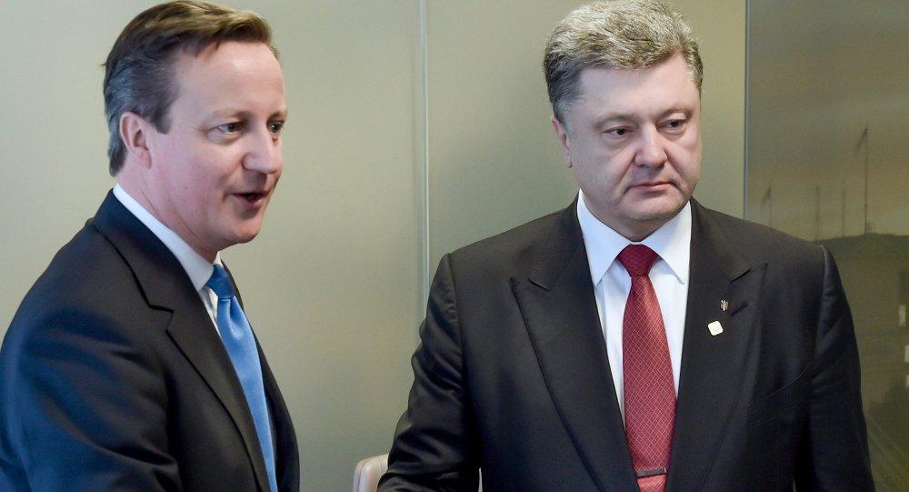 David Cameron & Pyotr Poroşenko