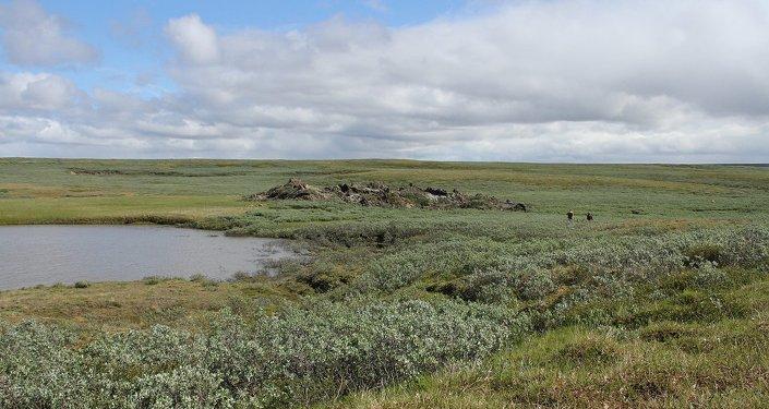 Yamal yarımadasında gizemli krater