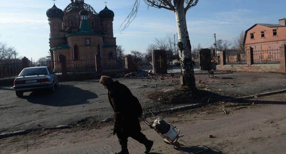 Donetsk yakınlarındaki Oktyabrskiy kasabası