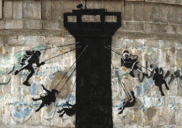 Sokak sanatçısı Banksy'nin Gazze'deki yeni eserleri
