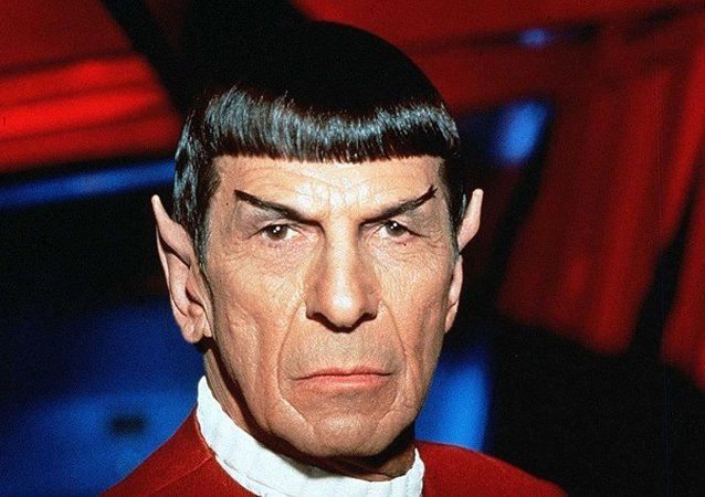 Mr. Spock'u canlandıran Amerikalı aktör Leonard Nimoy