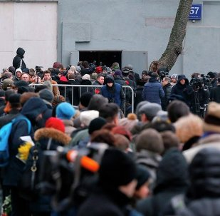 Rus muhalif siyasetçi Boris Nemtsov için düzenlenen anma töreni