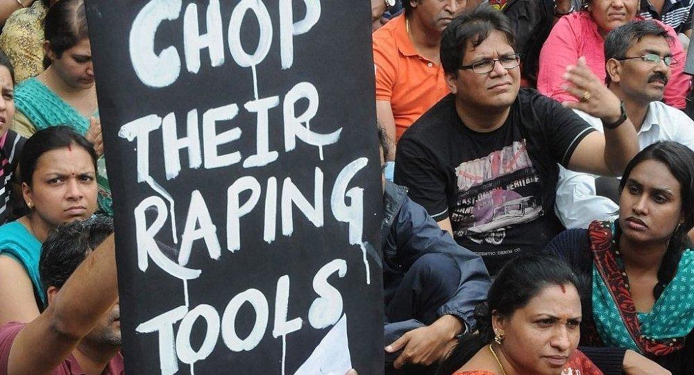 Hindistan tecavüz protestosu