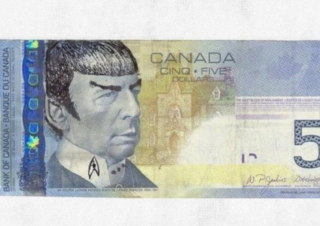 Kanada'da 5 dolarlık banknotlar