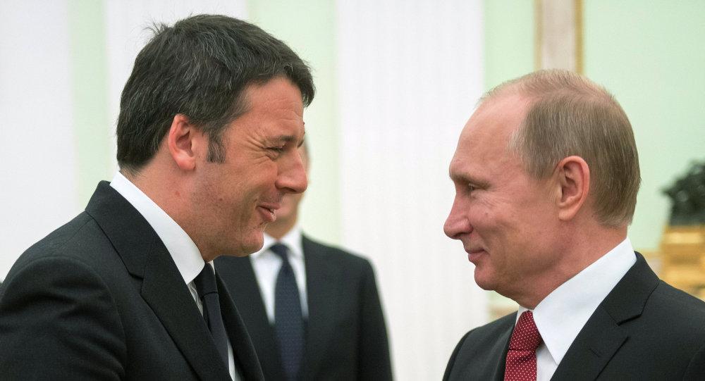 Vladimir Putin ve Matteo Renzi